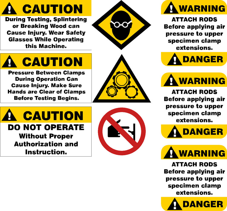 WARNING SIGN DECAL OSHA SAFETY DONT BE DUMB!