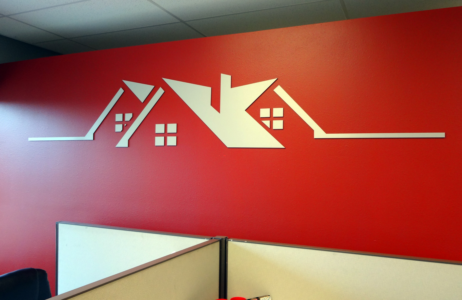 Wall Design Company : Business office interior signage madison sign lettering