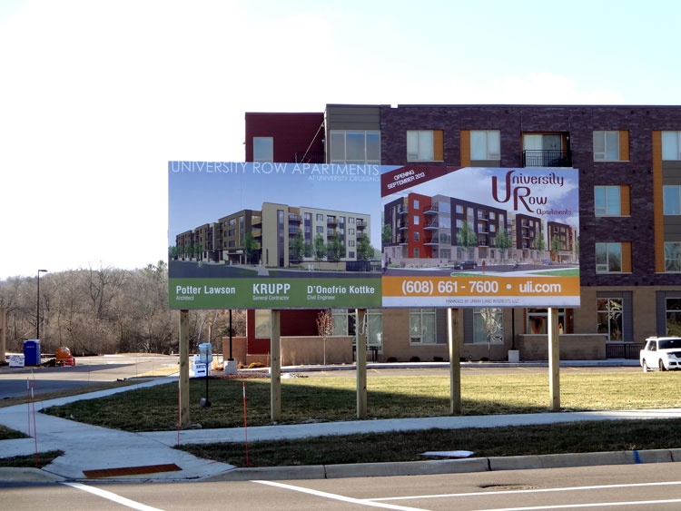 Site Signage Madison Wi Entrance Signs Ground Breaking