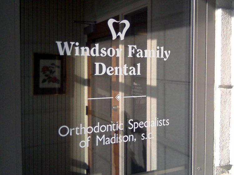 cut vinyl office door lettering